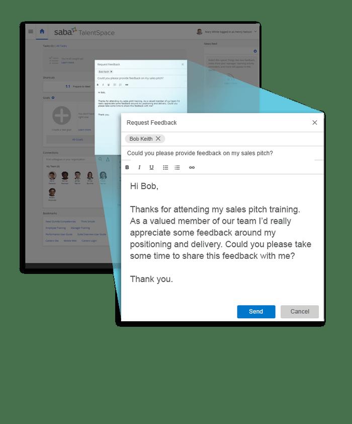 El sistema es capaz de gestionar las conversaciones de solicitud de feedback.