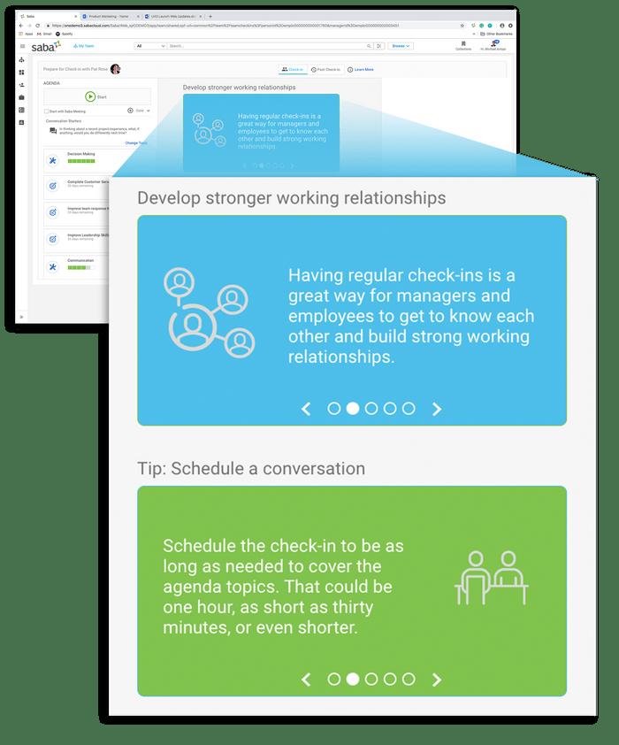 El sistema propone unos facilitadores de conversaciones para las evaluaciones manager-empleado.